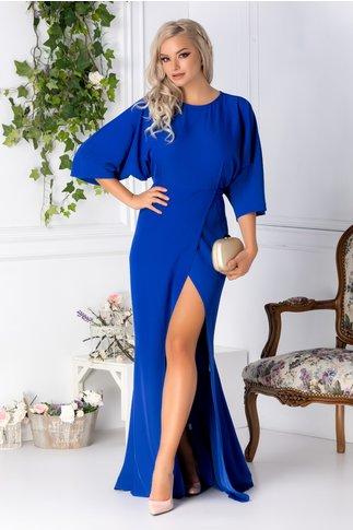 Rochie Tiffany lunga albastra de ocazie