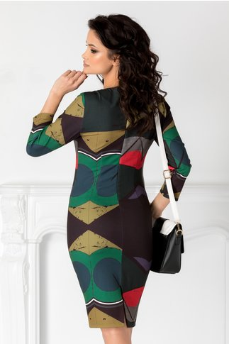 Rochie Tonina cu imprimeuri colorate
