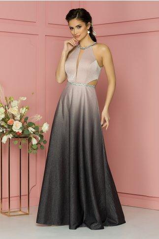 Rochie Valentina roz-gri in degrade
