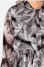 Rochie Vedda gri cu imprimeuri florale