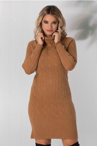 Rochie Vega crem lunga din tricot