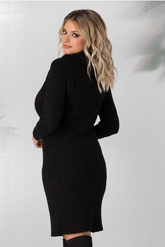 Rochie Vega neagra lunga din tricot