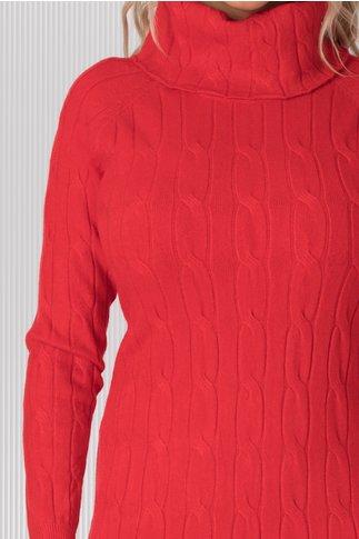 Rochie Vega rosie lunga din tricot