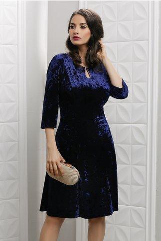 Rochie Velvet din catifea bleumarin cu reflexe