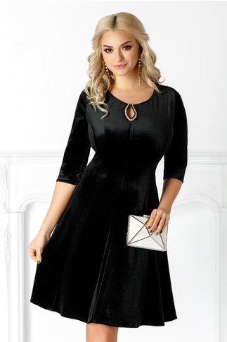 Rochie Velvet neagra de ocazie din catifea