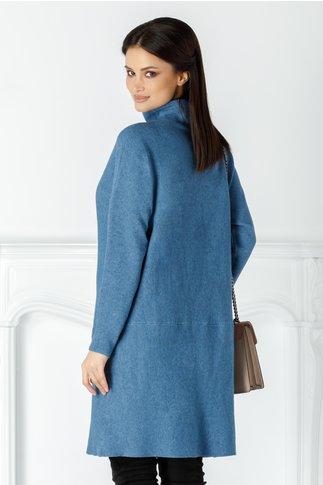 Rochie Vera bleu casual cu buzunare