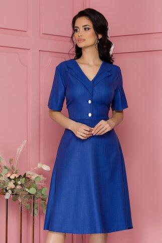 Rochie Vero albastra cu nasturi fantezie