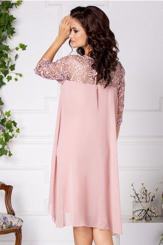Rochie Verra roz vaporoasa din  voal si dantela