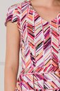 Rochie Yanice alba cu dungi multicolore