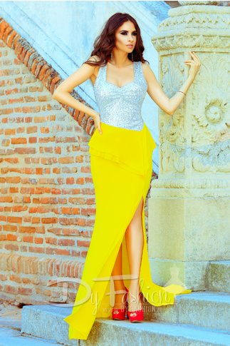 Rochie Yellow Silvery
