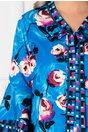 Rochie Zeny albastra cu imprimeu floral