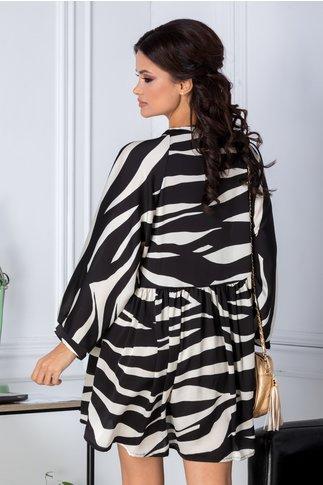 Rochie Zory vaporoasa cu zebra print