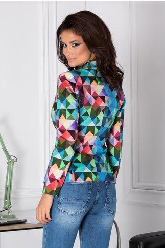 Sacou Ara cu imprimeuri geometrice multicolore