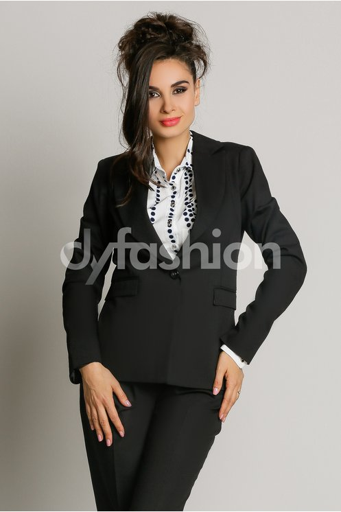Sacou Beatrice Negru Office Elegant
