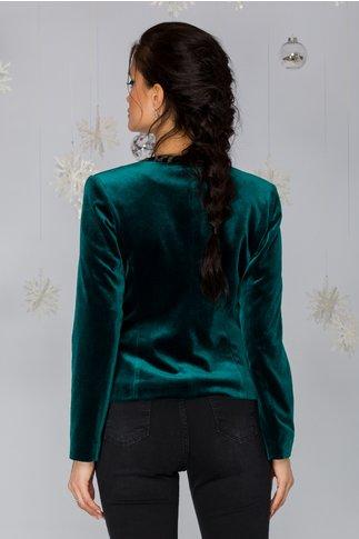 Sacou Olga verde din catifea
