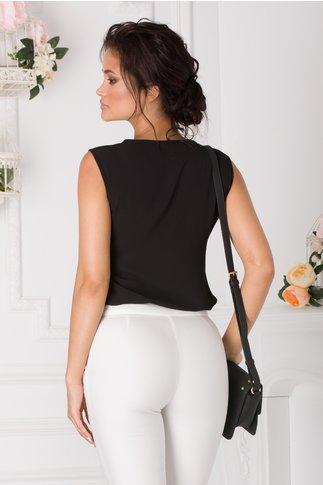 Top negru simplu elegant