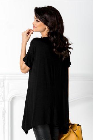 Tricou Amina negru cu insertii la bust