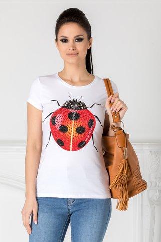 Tricou Ladybug alb