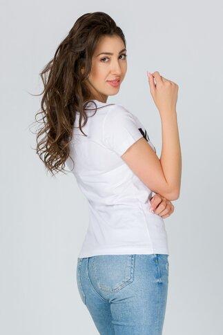 Tricou Mamacita alb cu imprimeu text