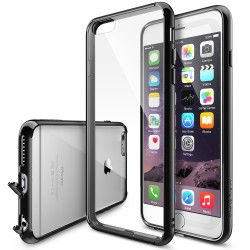 Husa iPhone 6 Plus / iPhone 6s Plus Ringke FUSION NEGRU+BONUS Ringke Invisible Defender Screen Protector