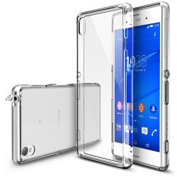 Husa Sony Xperia Z3 Ringke FUSION CRYSTAL VIEW TRANSPARENT+BONUS folie protectie display Ringke