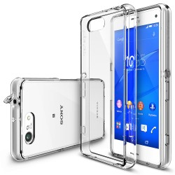 Ringke FUSION Sony Xperia Z3 Compact CRYSTAL VIEW TRANSPARENT+CADOU Ringke Invisible Screen Defender