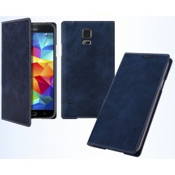 Husa Galaxy S5 Arium Mustang Flip Book Battery Cover albastru navy