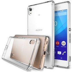 Husa Sony Xperia Z4 Ringke FUSION CRYSTAL VIEW TRANSPARENT+BONUS folie protectie display Ringke