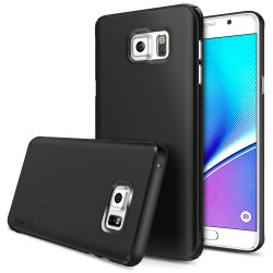 Husa Samsung Galaxy Note 5 Ringke SLIM SF BLACK +BONUS folie protectie display Ringke