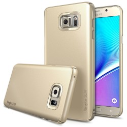 Husa Samsung Galaxy Note 5 Ringke SLIM ROYAL GOLD +BONUS folie protectie display Ringke