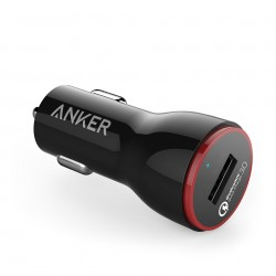 Incarcator auto 24W Anker PowerDrive+ 1 Qualcomm Quick Charge 3.0 negru