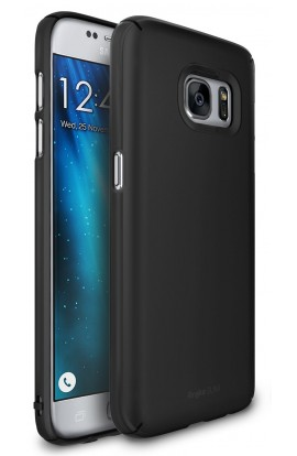 Husa Samsung Galaxy S7 Ringke SLIM SF BLACK + BONUS folie protectie display Ringke