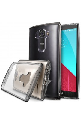 Husa LG G4 Ringke Fusion SMOKE BLACK+BONUS folie protect display Ringke