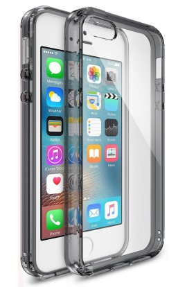 Husa iPhone 5/5s/SE Ringke FUSION SMOKE BLACK + BONUS folie protectie display Ringke