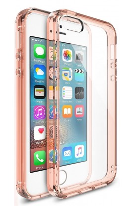 Husa iPhone 5/5s/SE Ringke FUSION ROSE GOLD + BONUS folie protectie display Ringke