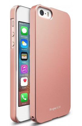 Husa iPhone 5/5s/SE Ringke Slim ROSE GOLD + folie Ringke cadou