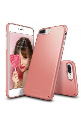 Husa iPhone 7 Plus Ringke Slim ROSE GOLD + BONUS folie protectie display Ringke