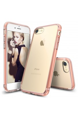 Husa iPhone 7 Ringke FUSION ROSE GOLD + BONUS folie protectie display Ringke