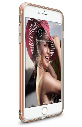 Husa iPhone 7 Plus Ringke AIR ROSE GOLD + BONUS folie protectie display Ringke
