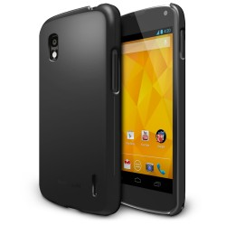 Husa Google Nexus 4 Ringke SLIM SF BLACK + BONUS folie protectie display Ringke