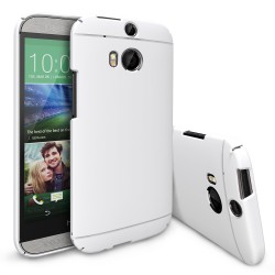 Husa HTC One M8 Ringke SLIM LF WHITE+BONUS folie protectie display Ringke
