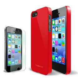 Ringke SLIM iPhone 5/5s CRIMSON RED+BONUS Ringke Invisible Defender Screen Protector