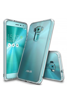 "Husa Asus ZenFone 3 5,5"" Ringke FUSION CRYSTAL CLEAR + bonus folie Ringke Invisible Screen Defender"