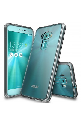 "Husa Asus ZenFone 3 5,5"" Ringke FUSION SMOKE BLACK + bonus folie Ringke Invisible Screen Defender"