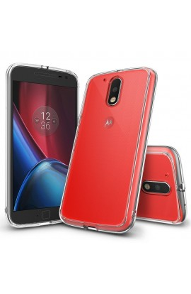 Husa Moto G4 / G4 Plus 2016 Ringke FUSION CRYSTAL CLEAR + bonus folie Ringke Invisible Screen Defender