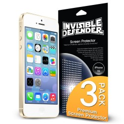 Folie protectie iPhone 5/5s/5c iPhone SE Ringke Invisible Screen Defender. Set 3 bucati, 2+1 GRATIS