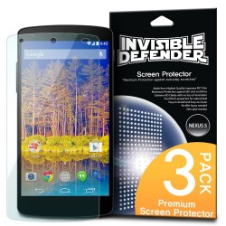 Folie protectie Google Nexus 5 Ringke Invisible Screen Defender. Set 3 bucati, 2+1 GRATIS