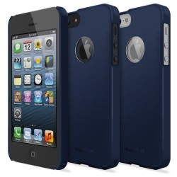 Husa iPhone 5/5s iPhone SE Ringke SLIM SF NAVY LOGO CUT+BONUS folie protectie display Ringke