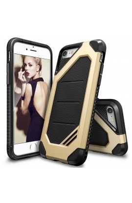 Husa iPhone 7 Ringke ARMOR MAX ROYAL GOLD+BONUS folie protectie display Ringke