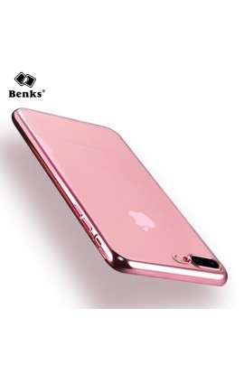 Husa iPhone 7 Plus Benks Magic Glitz TRANSPARENT - ROZ GOLD